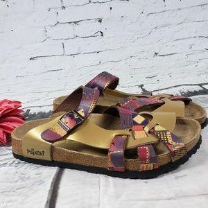 Papillo Pisa Birkenstock Gold Purple Sandal 10
